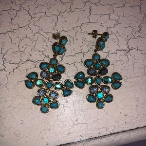 Kendra Scott Jewelry - Kendra Scott Blue dangle earrings